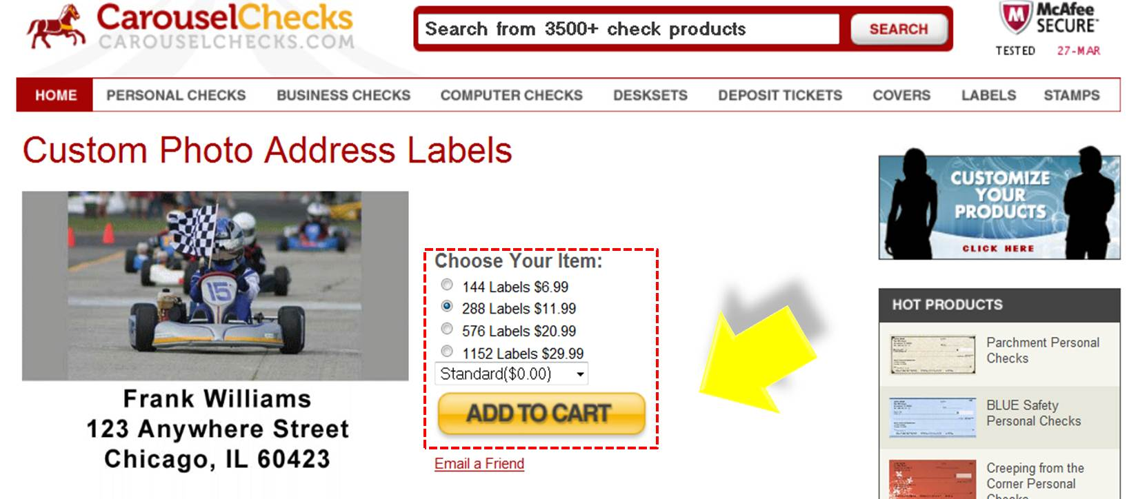 Online labels coupon code