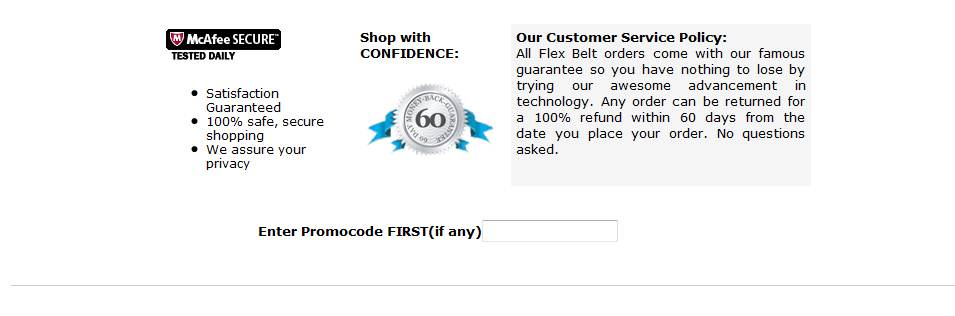 Flex belt discount coupon