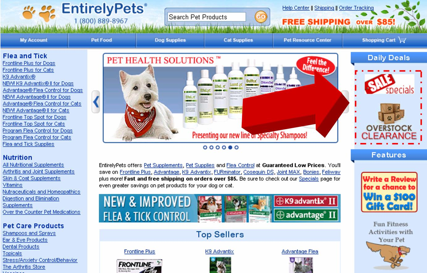 Entirely Pets is a beloved provider of all things pet, including a fun collection of toys, treats, supplements and health supplies. Whether you are shopping for dogs or cats, follow this link to take advantage of $5 savings on all orders of $
