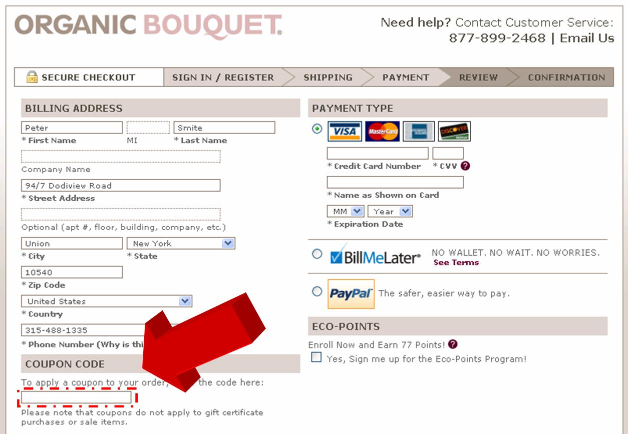 Organic Bouquet Coupons. Organic Bouquet is an online store specializing on flowers, plants and gouemet gifts. This store provide a wide range of beautiful flower, gift baskets, fruit baskets, chocolate, wine for giving in any occasion and to any special person with you.