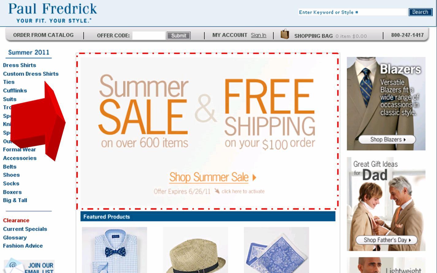 Paul fredrick discount coupons