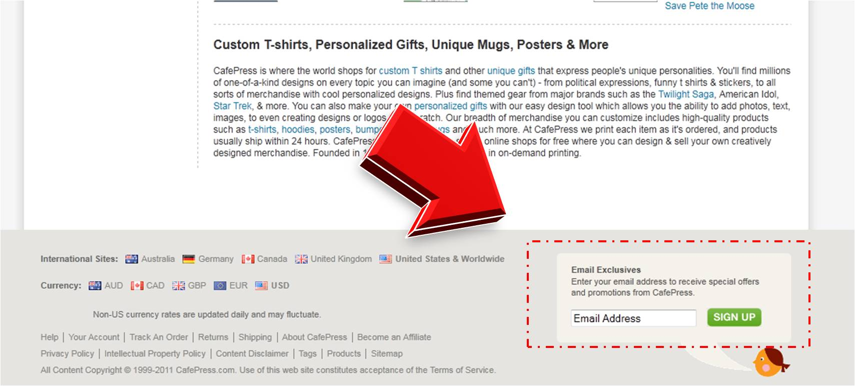 Design your own t-shirt cafepress - Cafepress Mailing Services