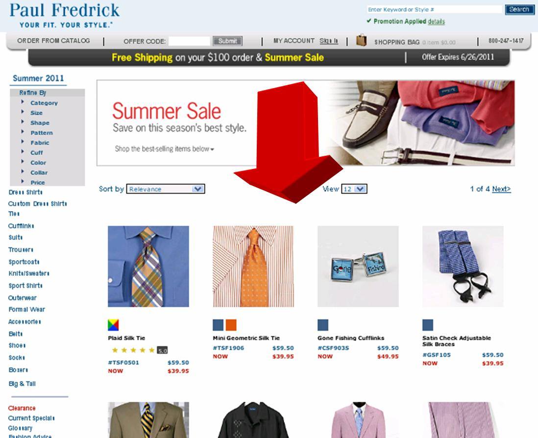 Paul fredrick coupon code