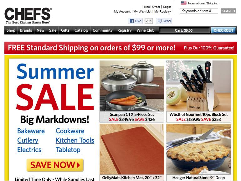 chefs catalog coupons