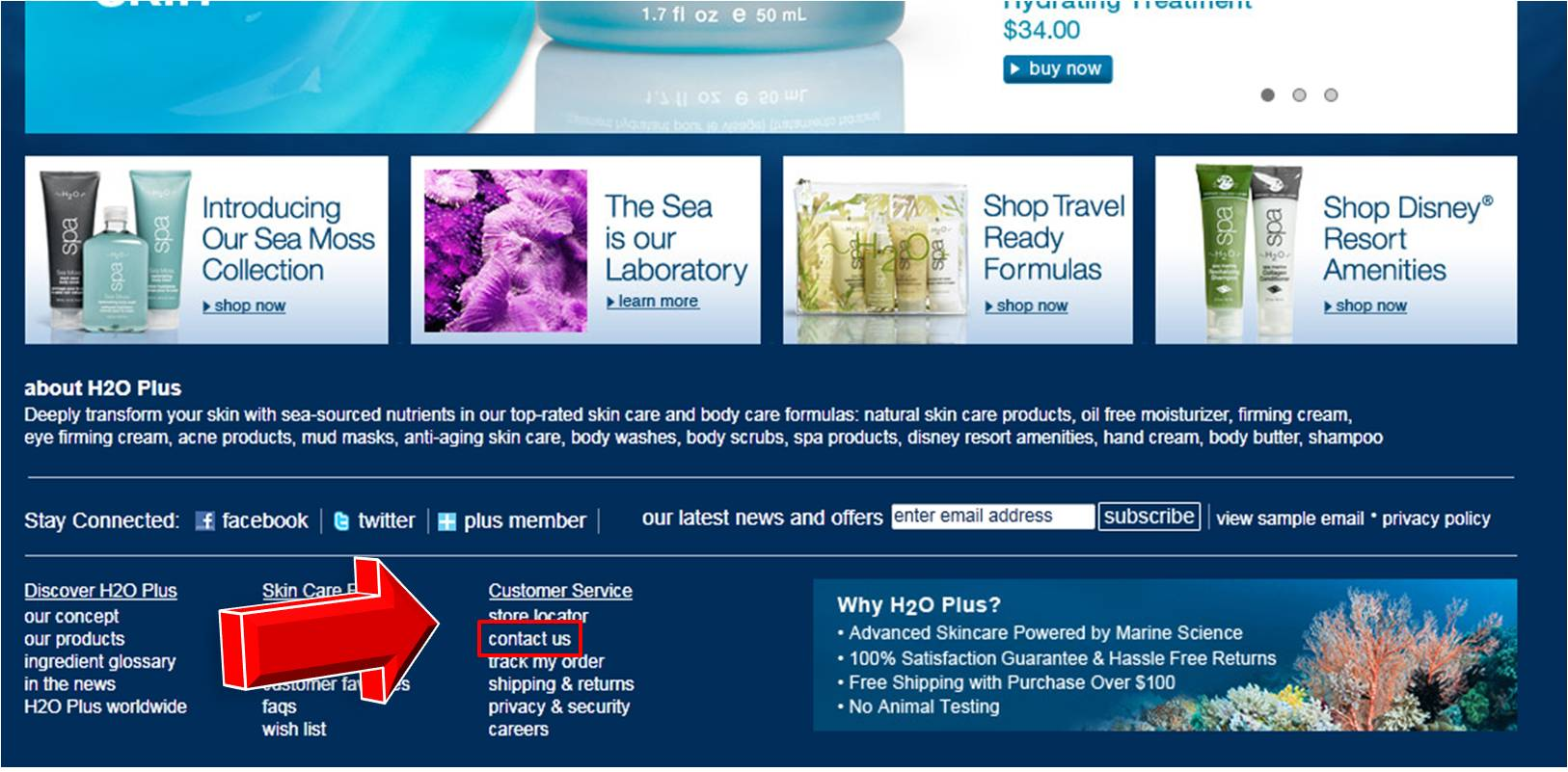 H2O Plus Coupons All Active H2O Plus Coupon Codes & Promo Codes - Up To 20% off in December Check out the H2O Plus online store and discover a large number of skincare, bath and body products as well as cosmetics must-haves.