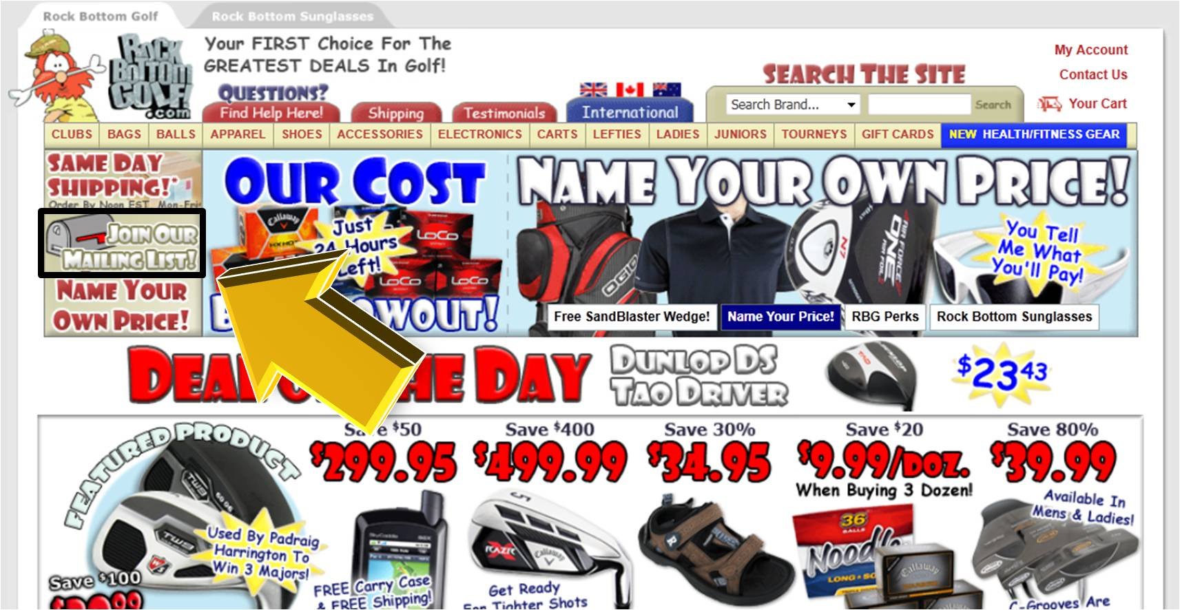 Rock bottom golf discount coupon codes