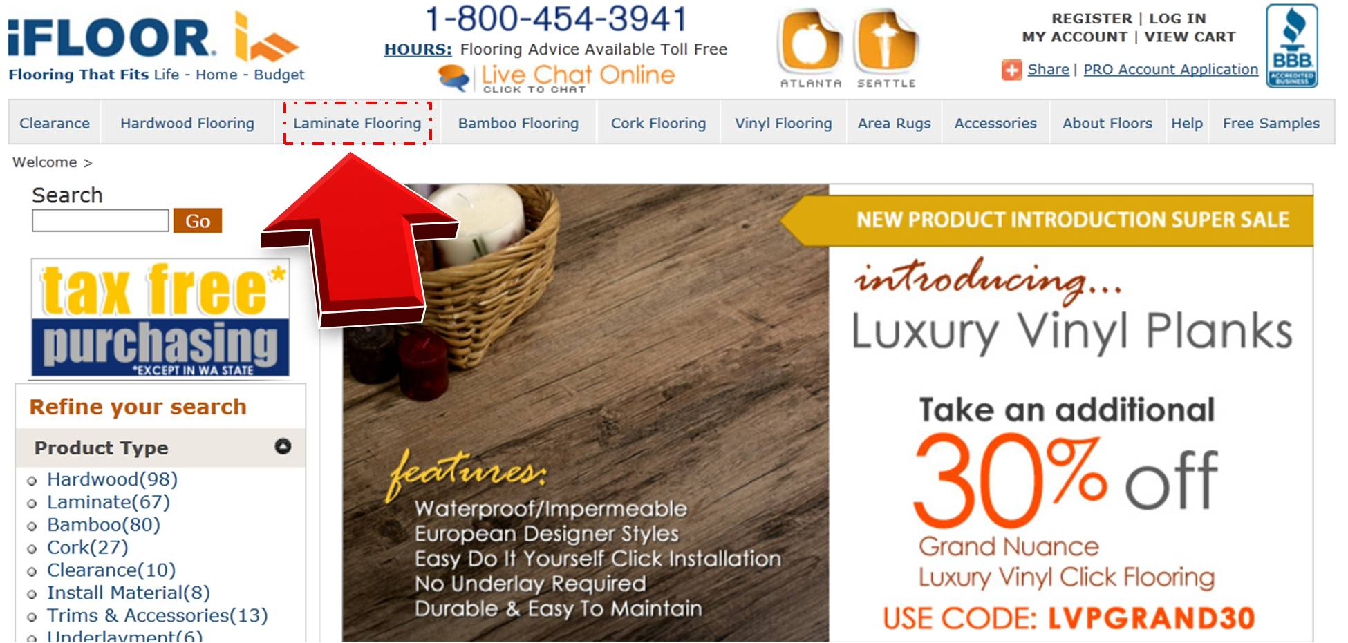 Find out the attractive Best Laminate coupons and promo codes at GoodShop for vinyl and laminate flooring. Upgrade your home look with creative luxury vinyl flooring collections. Best Laminate brings you a classic combination of professional quality and innovative style flooring collections.