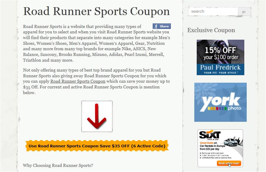 Expired Road Runner Sports Promo Codes & Coupons