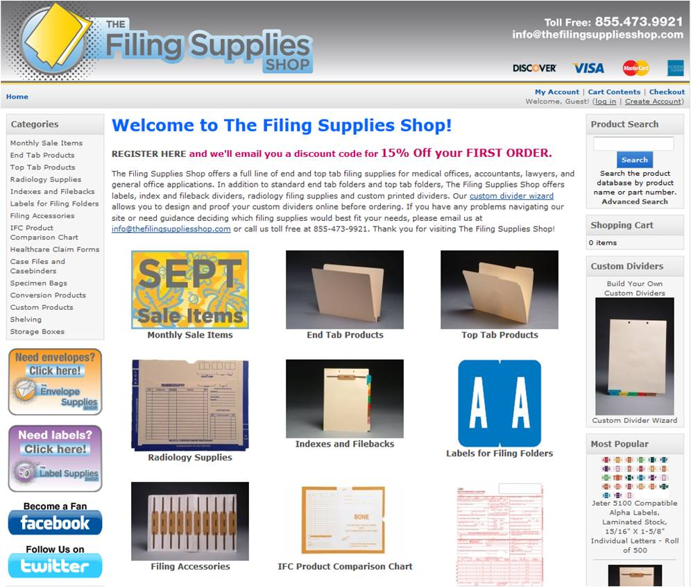 Discount filing supplies coupon code