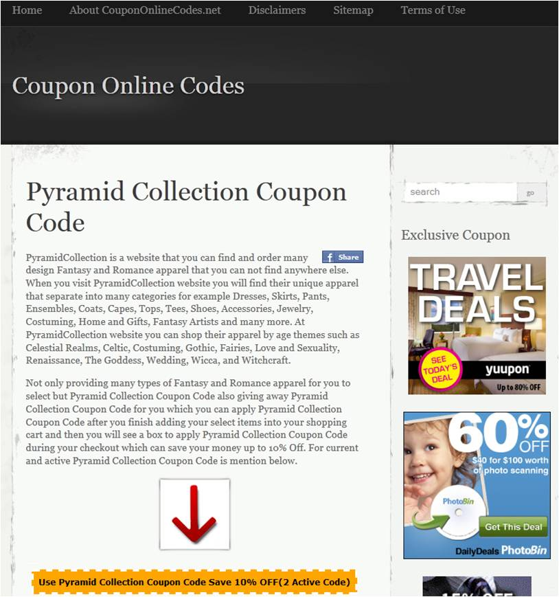 Pyramid collection coupons discounts