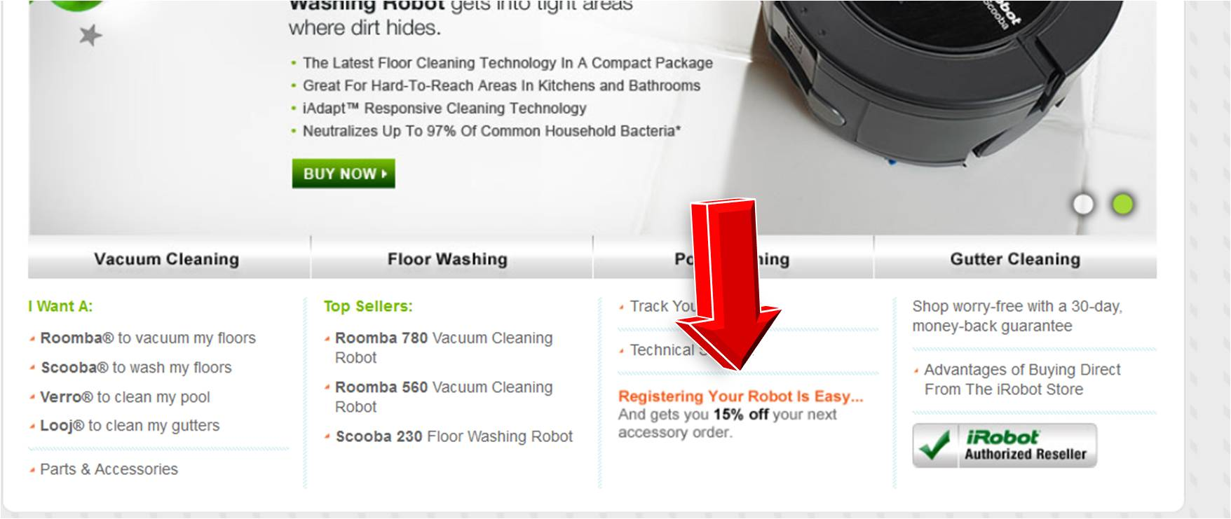 Roomba coupon code