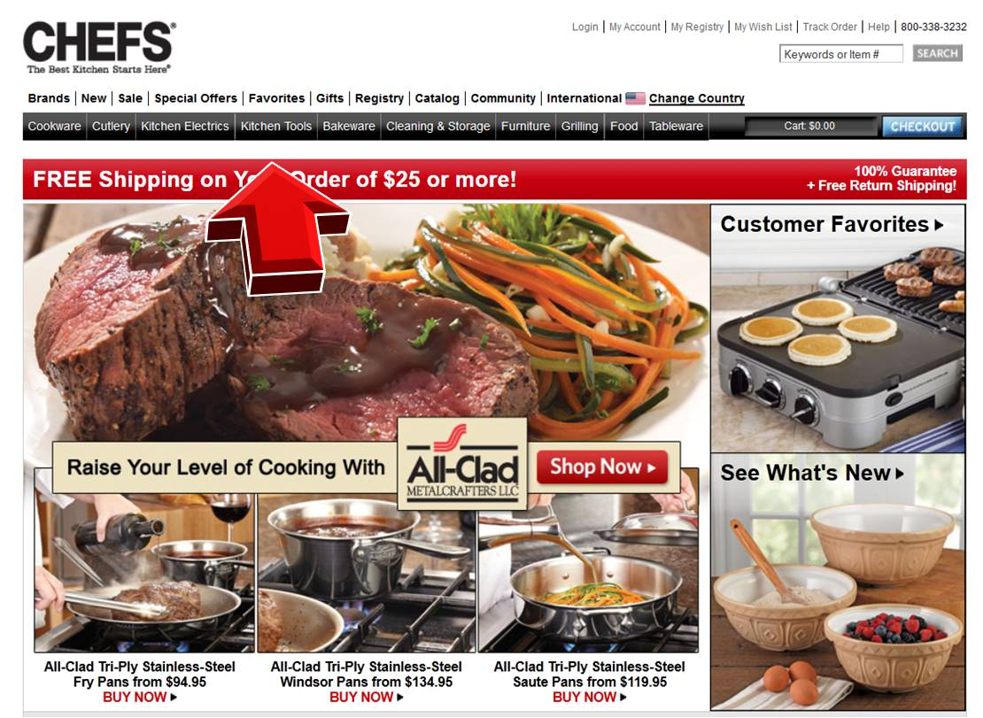 Chef's catalogue coupons