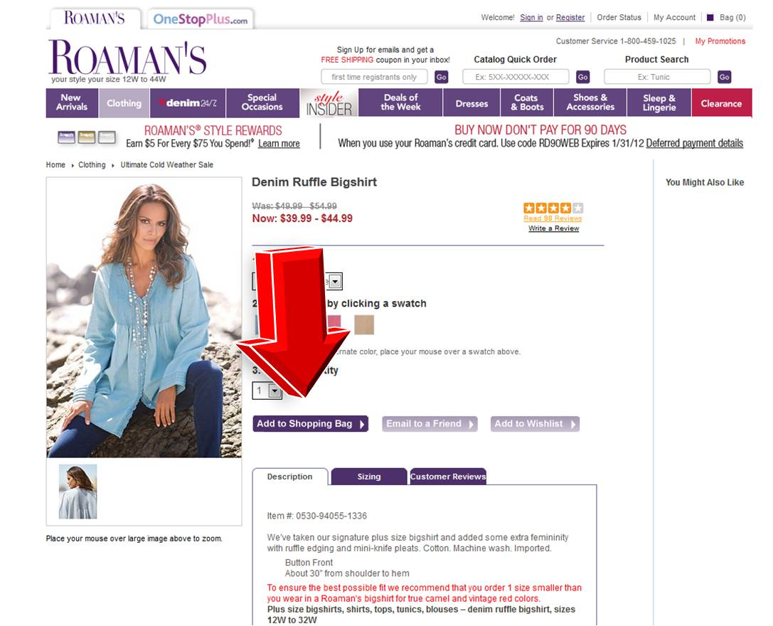 Roaman's Coupon Codes, Promo Codes November Savings with Roaman's coupon codes and promo codes in November Today's top Roaman's coupon: Bonus 40% Off Highest Priced Item Including Clearance With 2+ Items + Free Shipping on Orders $50+.