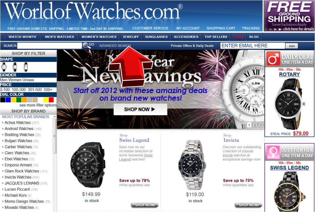 world of watches jewelry coupon code