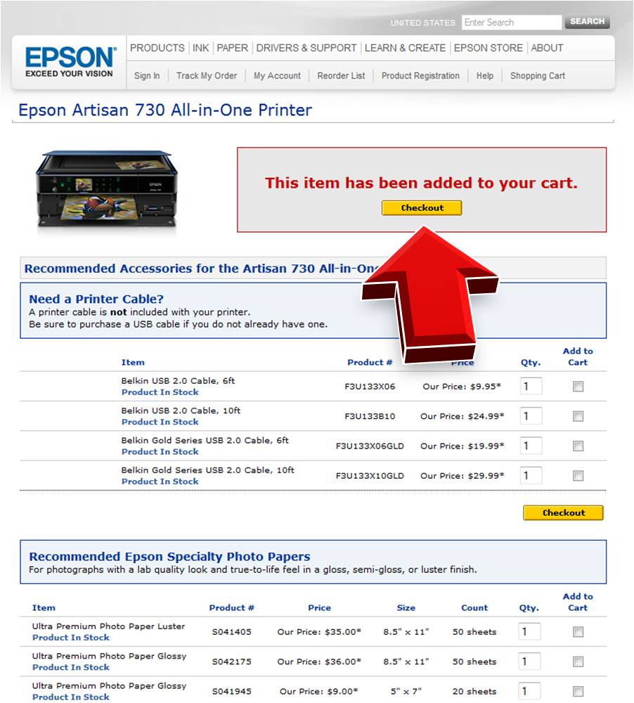 Epson coupons promotions