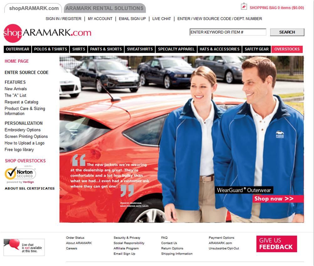 Aramark coupon codes