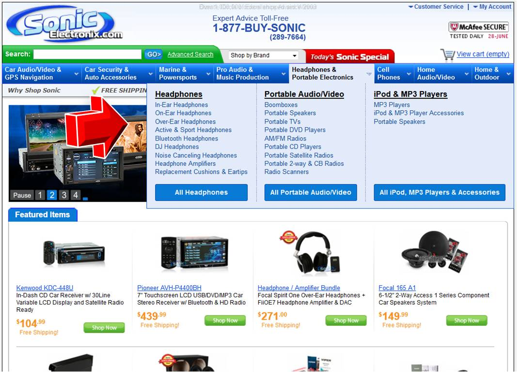 Sonic electronix coupon code