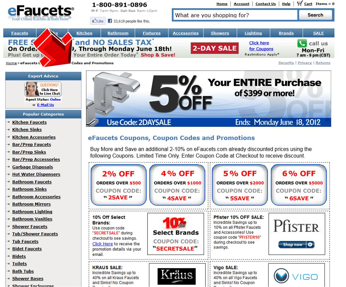 Efaucets coupon code 2018 / Office depot coupon includes technology 2018