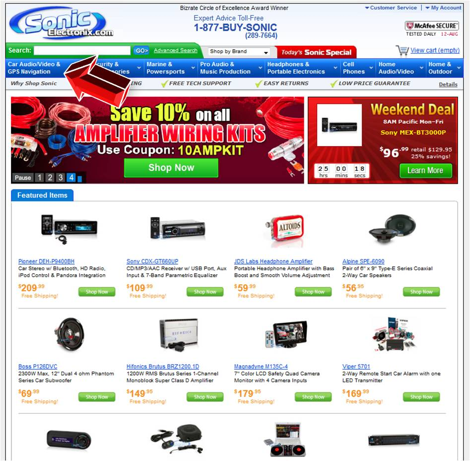 · Save with Sonic Electronix Coupons. It's no secret that shopping online saves you time and money. That's why we are always updating this page with the latest hand-tested Sonic Electronix coupon .