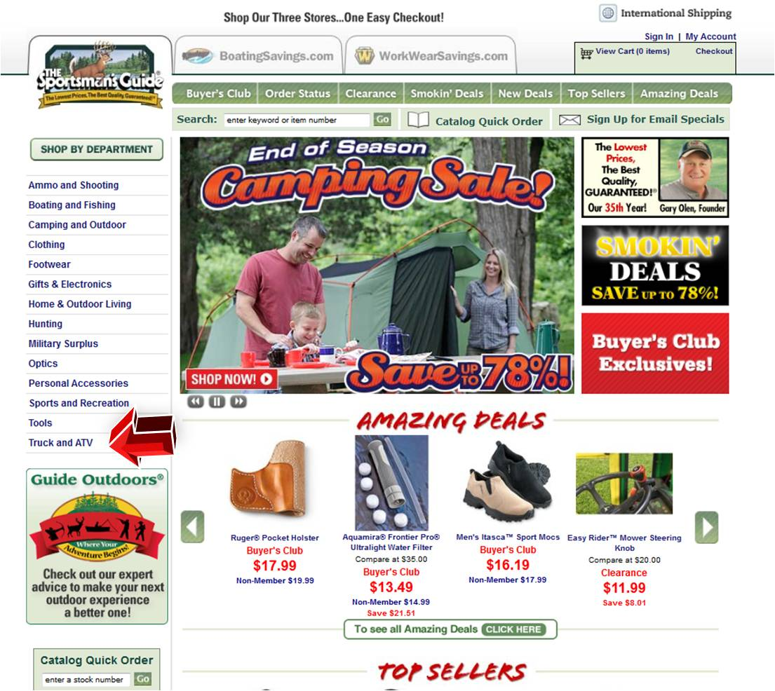 Sportsmans Guide Truck and ATV | Coupon Code