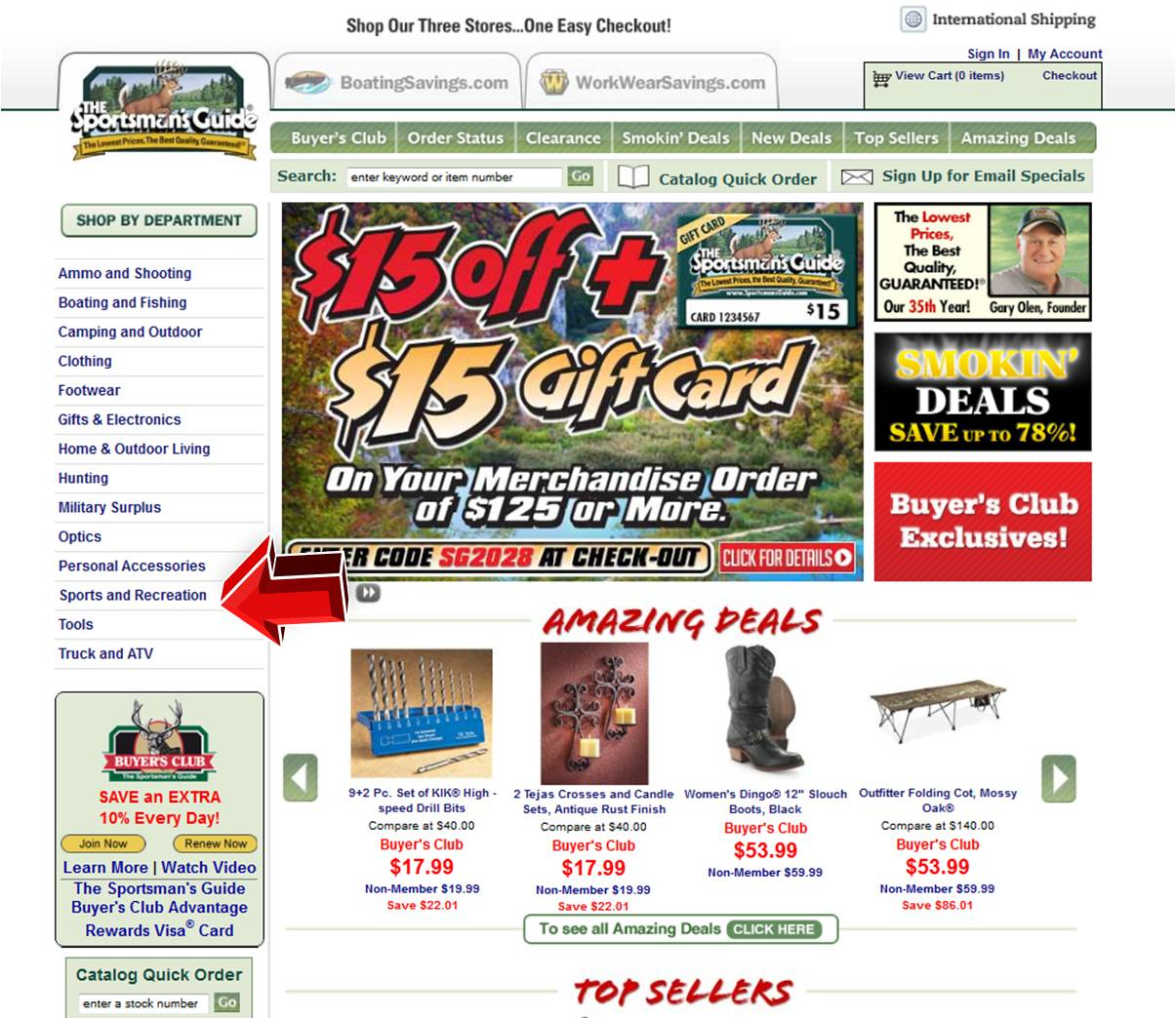 Sportsmans Guide Sports and Recreation | Coupon Code