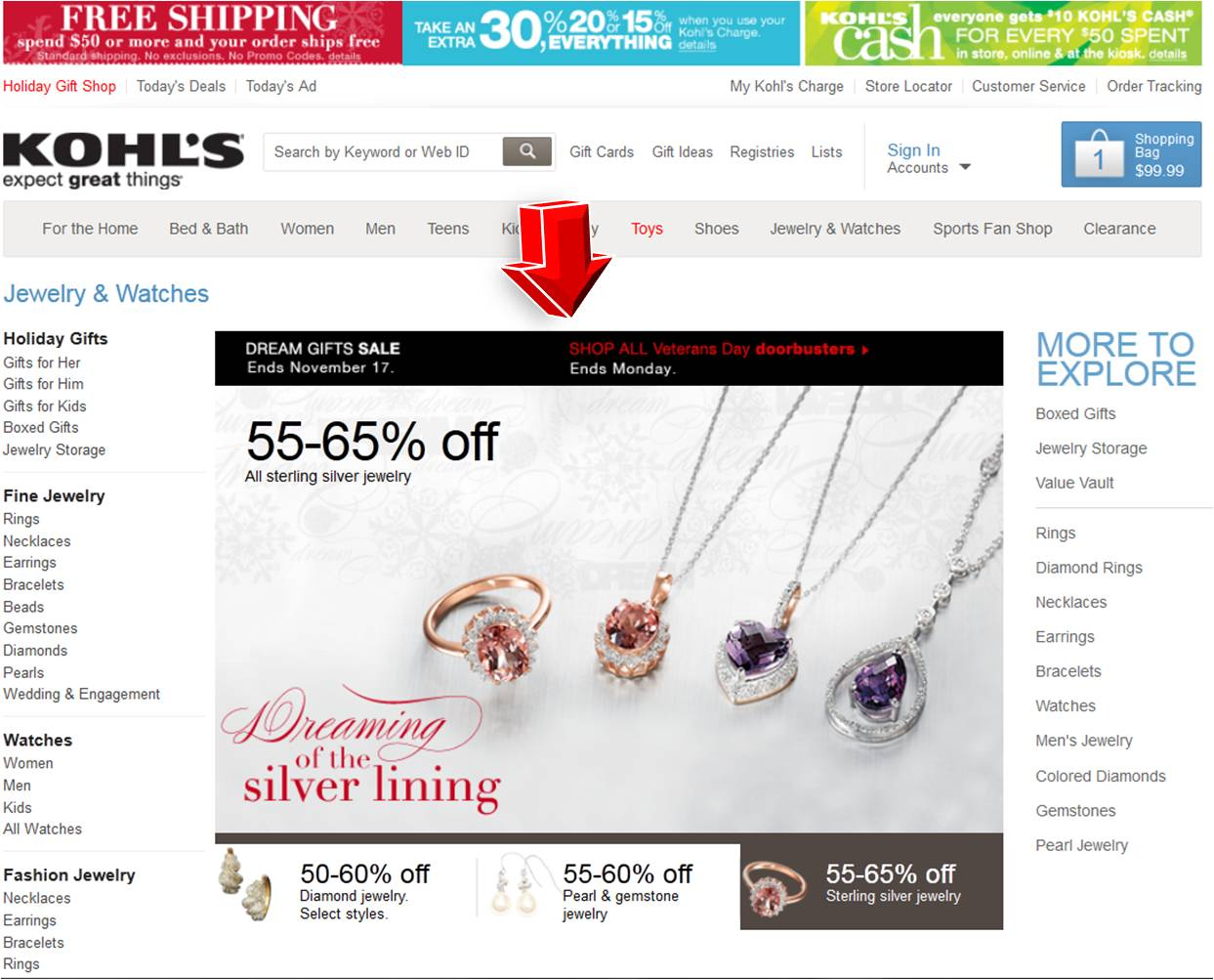 Kohls jewelry watches coupon code for Kohls fine jewelry coupon