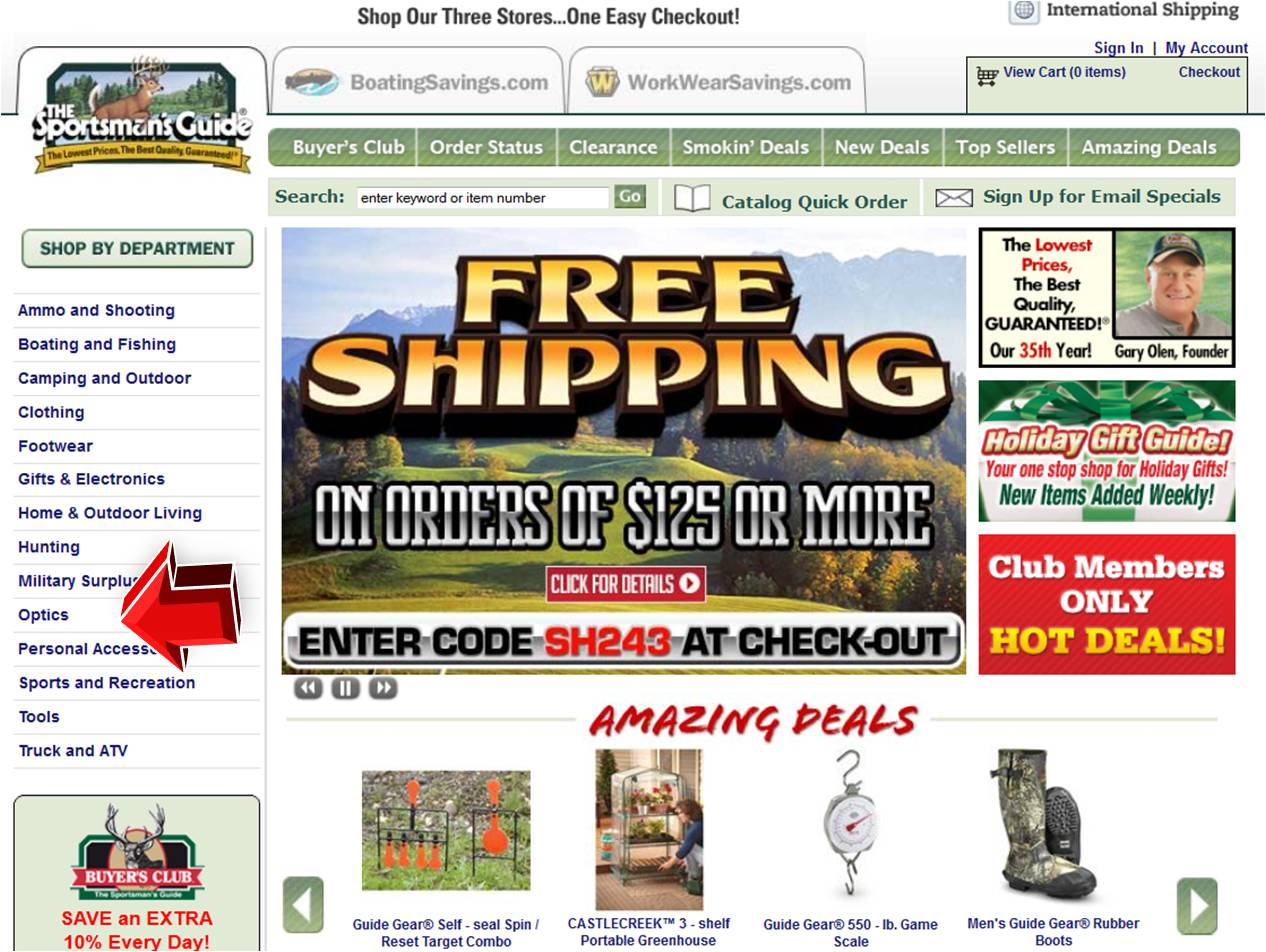 Sportsman's guide discount coupon code
