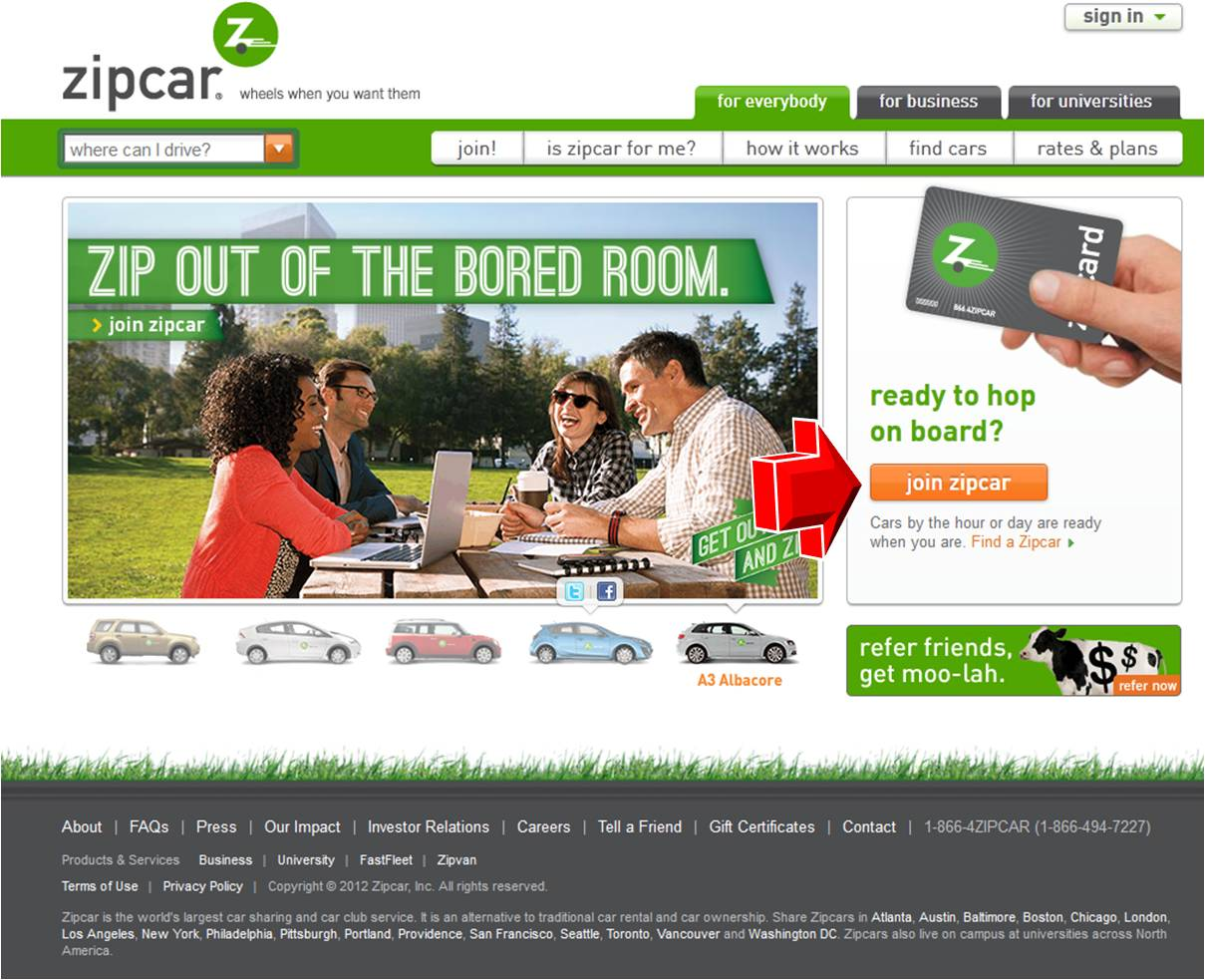 Car Sharing & Hourly Car Rental in San Francisco | Zipcar41,+ followers on Twitter.