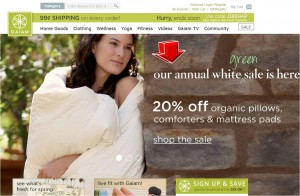 Gaiam Organic Pillows Promotion