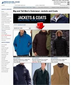 List of BigMansLand Jackets & Coats