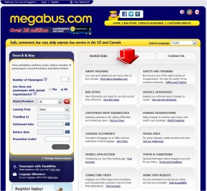 List of Additional Services from Megabus
