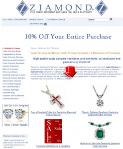 List of Necklaces and Pendants from Ziamond