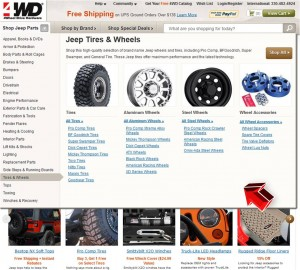 List of Tires & Wheels from 4WD