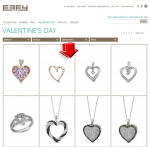 List of Valentine's Day from Effy Jewelers
