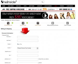 Step5 to Enter SheInside Coupon