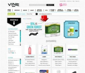 List of Household Products from Vine.com