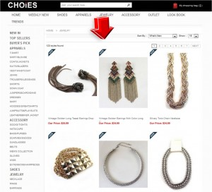 List of Jewelry from Choies.com