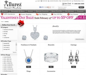 List of Valentine's Day Sale from Allurez