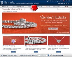 List of Valentine's Exclusive from Blue Nile
