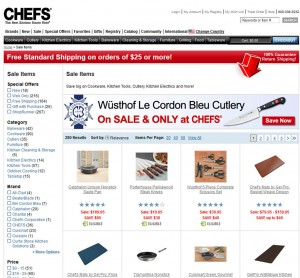 List of Winter Sale from Chefscatalog