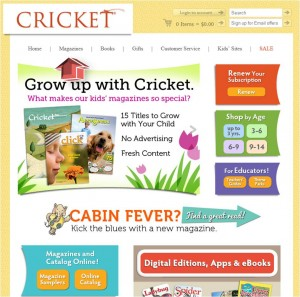 Children's Magazine from Cricket Magazine