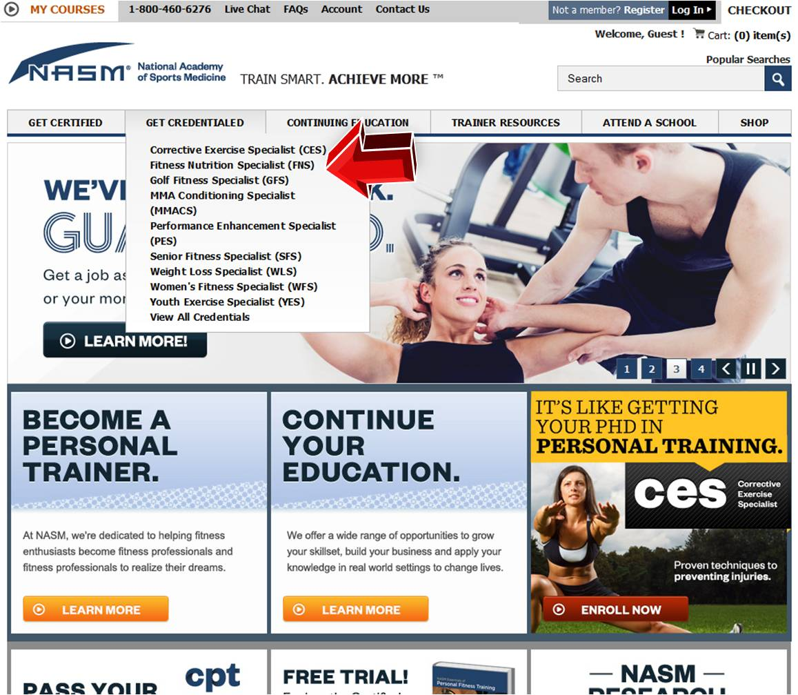 NASM Promo Codes, Coupons website view Looking to go in a different career direction or complete continuing education credits? NASM is the National Academy of Sports Medicine.