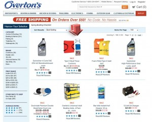 List of Boating Essentials Promotion from Overtons