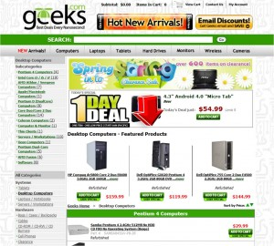 List of Computer Equipment from Geeks.com
