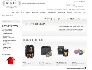 List of Home Decor from Forzieri