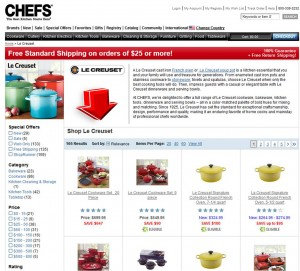 List of Le Creuset from ChefsCatalog