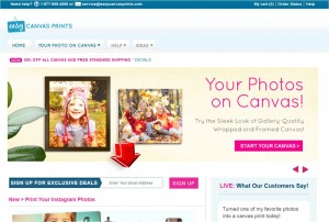 Easy Canvas Prints Mailing Services
