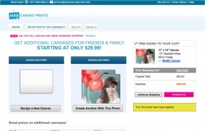 Step3 to Enter Easy Canvas Prints Coupon