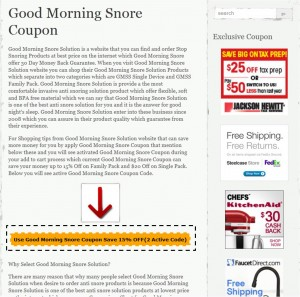 Step1 to apply Good Morning Snore Solution Coupon Code
