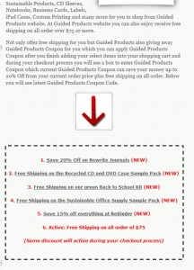 Step2 to Enter Guided Products Coupon